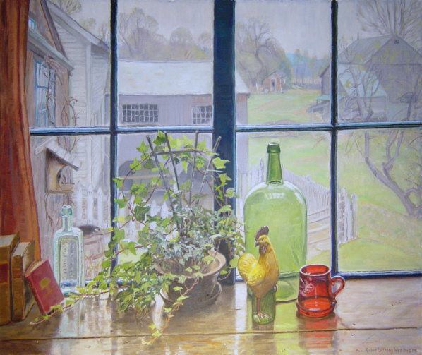 window paintings robert strong woodward painter of new england scenes barns homesteads pastures churches picturesque windows
